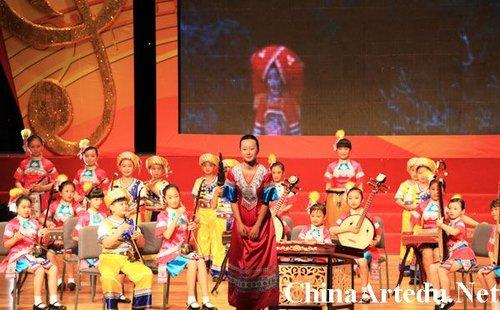 广西南宁天桃实验学校民乐合奏《壮娃乐》