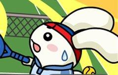 女孩游戏-萌兔打网球