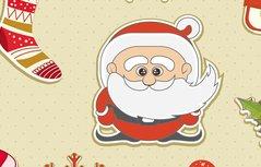 圣诞节碎花手机壁纸