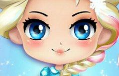 女孩游戏-萌版艾莎换装