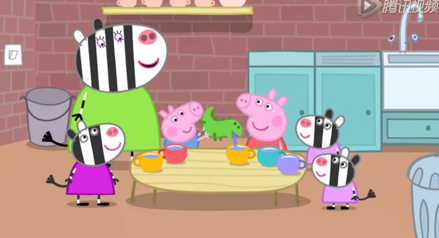 简笔画-小猪佩奇 做陶器