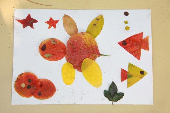 儿童树叶手工制作鱼