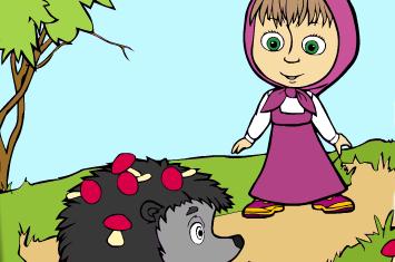 玛莎和熊填颜色