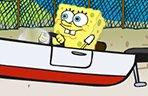 海绵宝宝停靠小船