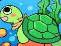 小海龟水中游·英语儿歌
