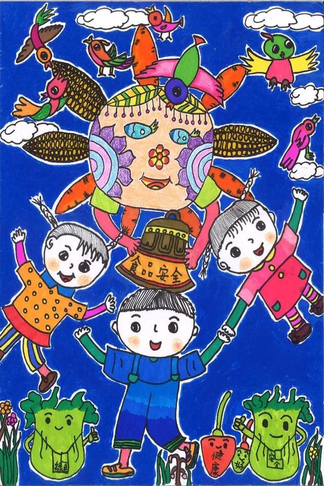 专家的两千余幅儿童绘画作品;筛选美术教育专家及食品安全学校的经过人物素描漫画色彩图片
