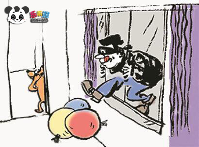 乐乐熊戏谑论盗窃 家中进贼怎么办?