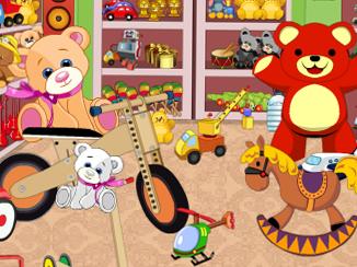 儿童玩具屋找东西