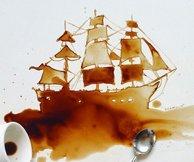 艺术源于生活 优雅的咖啡渍艺术