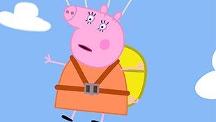 小猪佩奇第七季:猪妈妈表演跳伞