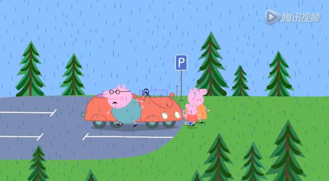 小猪佩奇:彩虹的神秘视频!殷彪宝藏图片