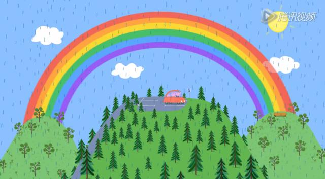 小猪佩奇:彩虹的神秘视频!盲女眼义宝藏图片