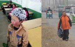 组图:对比冰花男孩,拆迁农村孩子上学路幸福多了