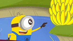小黄人和萌友:吃不到的香蕉