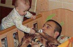 组图:爸爸带孩子简直是灾难