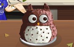 跟莎拉学做猫头鹰蛋糕