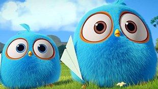 愤怒的小鸟之蓝弟弟系列:谁的纸飞机飞的更远?