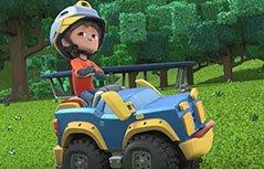 男孩动画:机灵宠物车