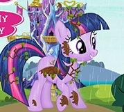 彩虹小马淋雨了
