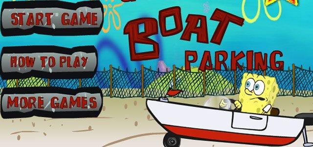 动作游戏-海绵宝宝停靠小船