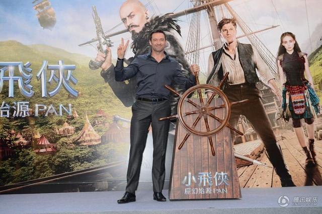 《小飞侠》香港见面会 休·杰克曼学传统舞龙