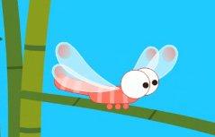 晚霞中的红蜻蜓