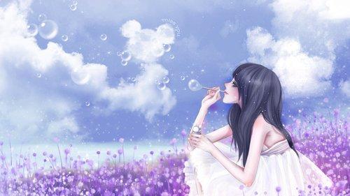 (网友投稿)落在花瓣上的肥皂泡