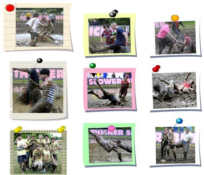 有趣的泥浆足球