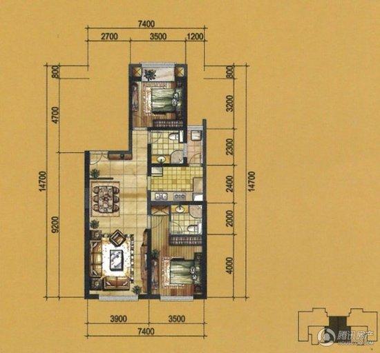 户型主要在80—133平米; 让梦想和房子一起变大 80...