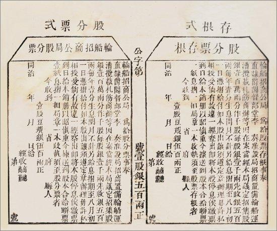 你知道中国历史上 第一支股票吗?