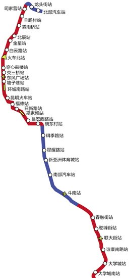 昆明地铁2号线昆明火车站地铁站暂不启用