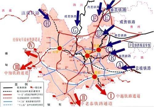 云南 铁路 地图全图 分享 溜溜网