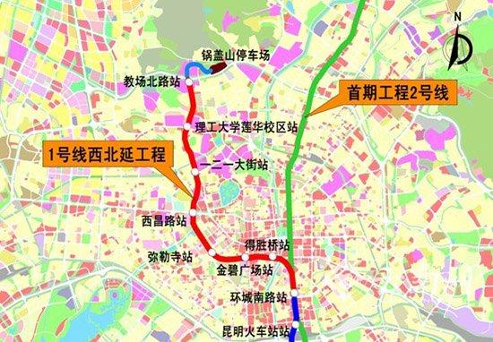 昆明地铁1号线西北延长线得胜桥站第三期围挡施工