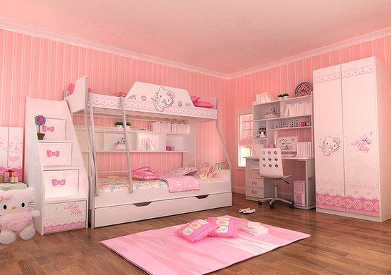 小孩房间装修效果图上下铺欧式