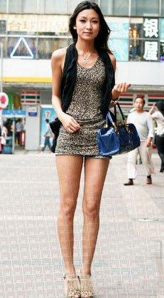 街拍露腿装扮尺度其实很重要图片