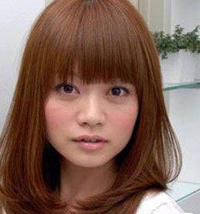 今年流行动感齐刘海童花头图片