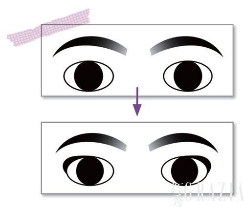只是将眼线尾部画得上翘了而已,就能让眼睛的感觉变得如此高清图片