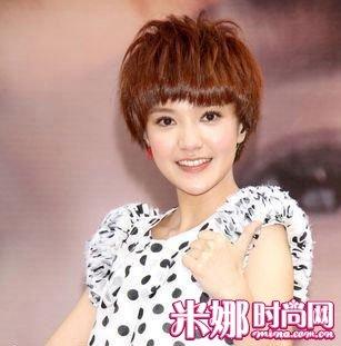蘑菇纹理短发图片