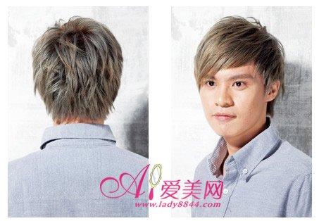 林弯弯烫染发型男-设计:麻豆的头型偏小,发质细软容易扁塌,为了让脸型看起来更立体图片