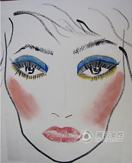手绘彩妆人脸图片