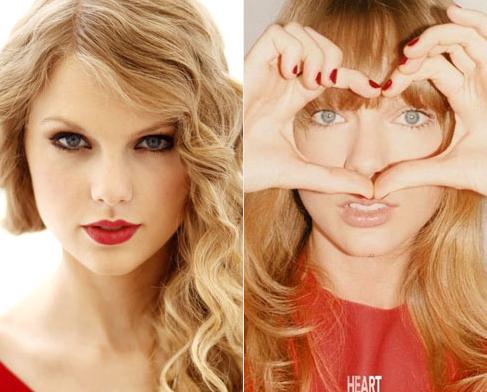 泰勒弃红唇 清新妆容顿失明星范儿