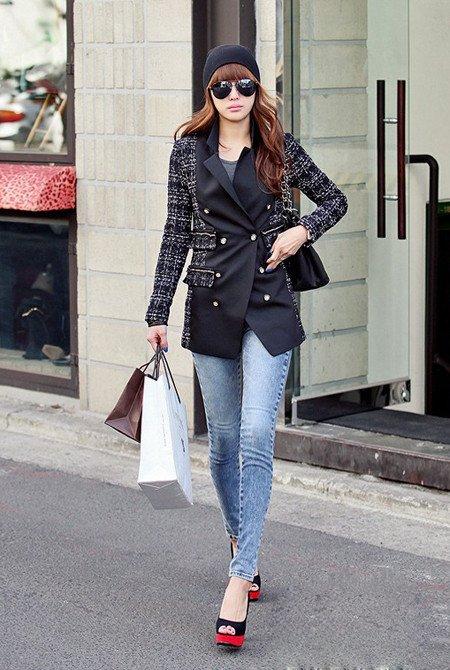 大牌春装出街高街范儿:外套+紧裤+潮靴
