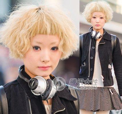 原宿 短发造型图片分享; 初夏日本街拍潮发全搜罗; 日本街头潮人美眉