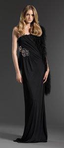 赖雅妍身着GUCCI 2011PF系列抹胸黑长裙