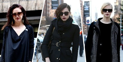 纽约街头 墨镜下掩不住的唇色