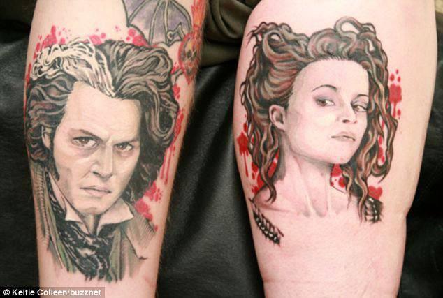 情侣的纹身印记图片