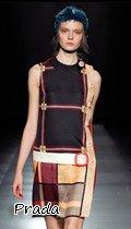 林志玲 穿着Prada 2011秋冬系列格子裙