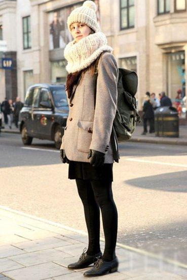不怕冷风吹 街拍达人冬帽搭