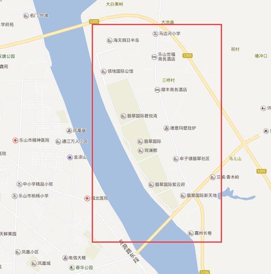 乐山各大片区实力PK  新城老城差距大
