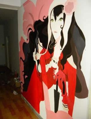 空姐最爱的手绘墙